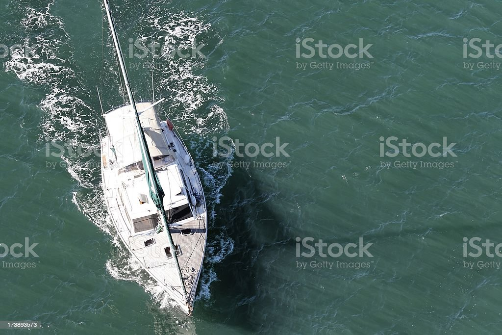 Yacht on water royalty-free stock photo