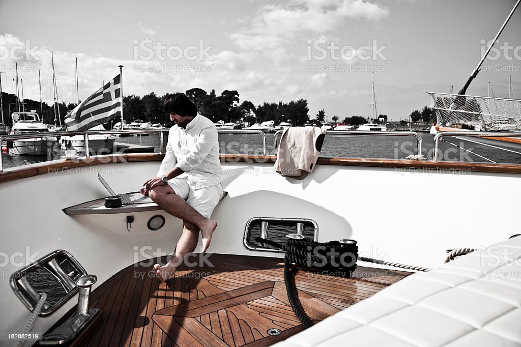 Yacht owner royalty-free stock photo