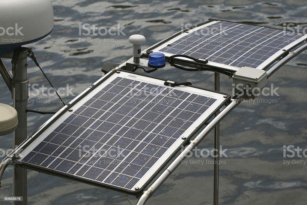 yacht photovoltaic energy royalty-free stock photo