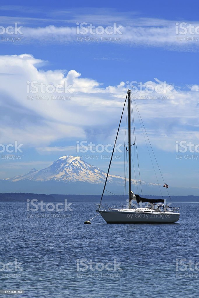 Yacht royalty-free stock photo