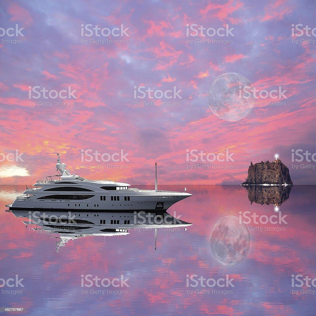 Yacht. royalty-free stock photo