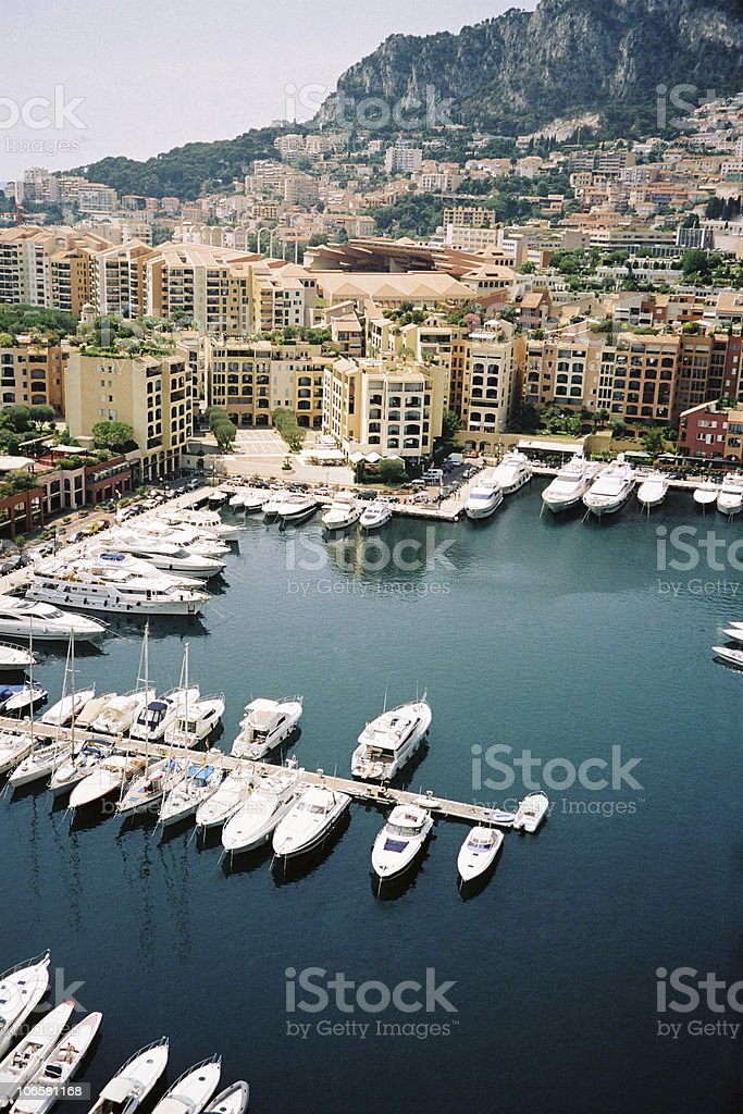 yacht pier in Monte-Carlo stock photo
