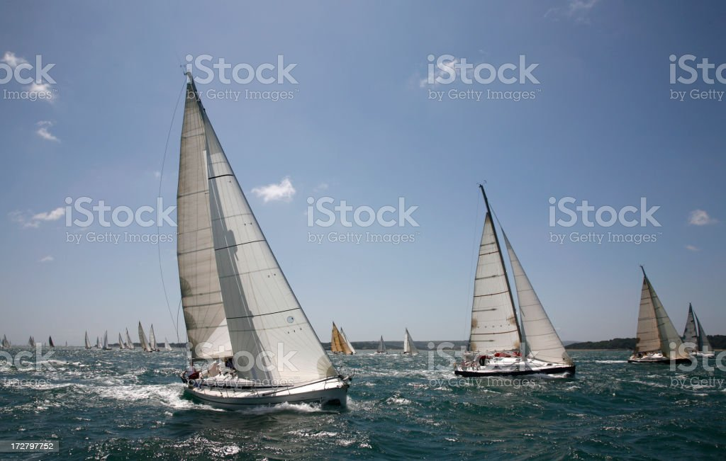 Yacht Racing royalty-free stock photo