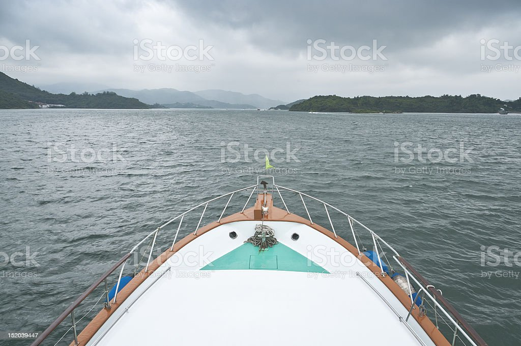 Yacht, Sai Kung, Hong Kong royalty-free stock photo