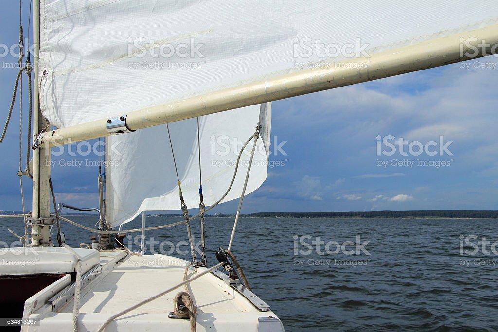Yacht sail stock photo
