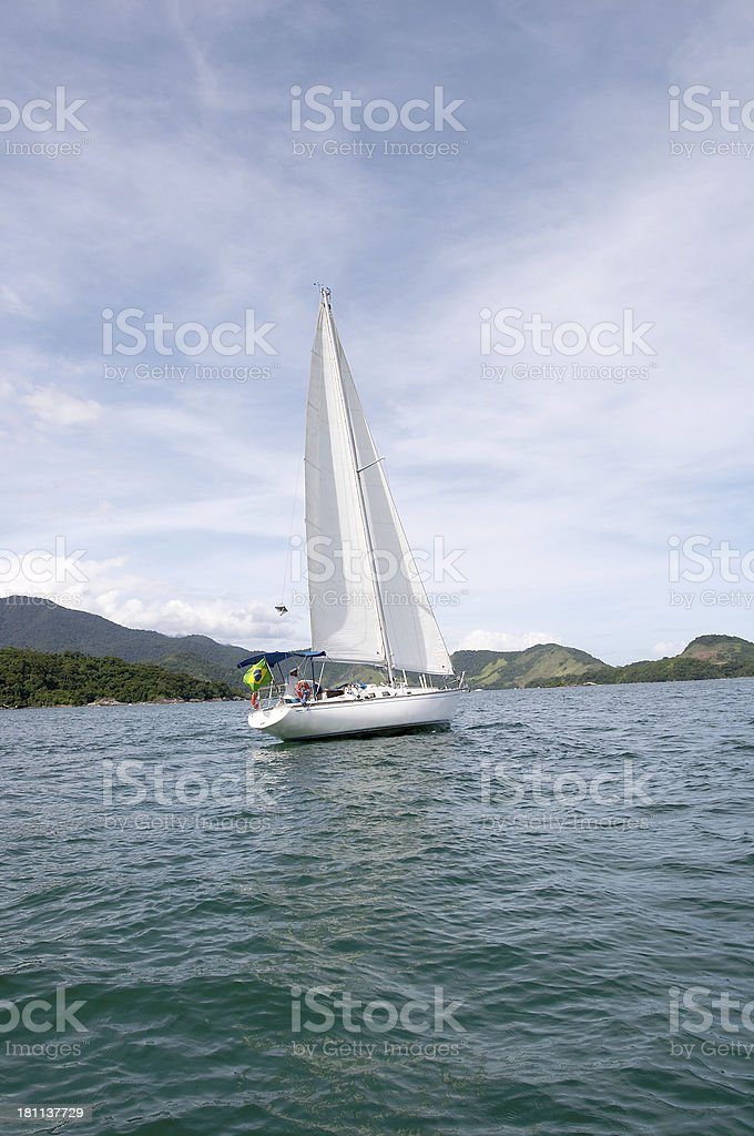 yacht  Sailing (Brazil) royalty-free stock photo