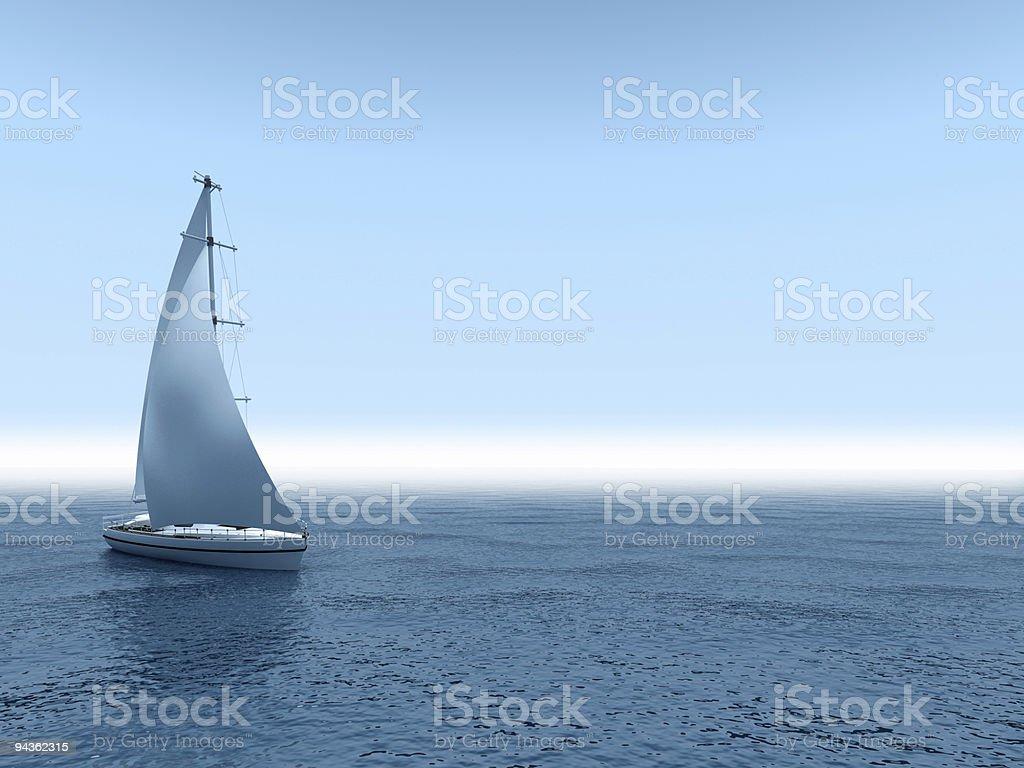 Yacht sea. royalty-free stock photo