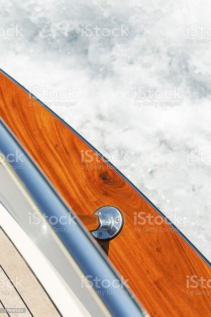 Yacht - Ship's Bow stock photo