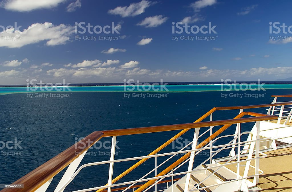Yacht View royalty-free stock photo