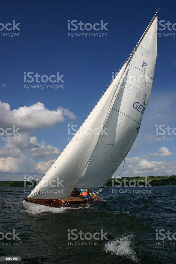 Yachting at the wind royalty-free stock photo
