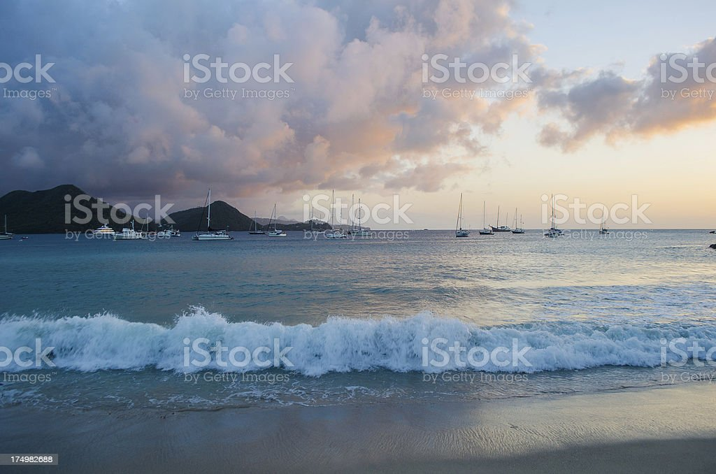 yachting beach paradise royalty-free stock photo