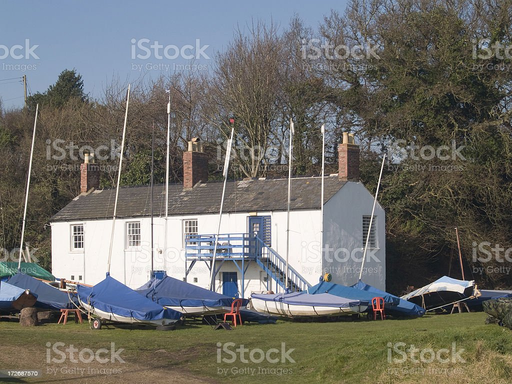 Yachting club at rest stock photo