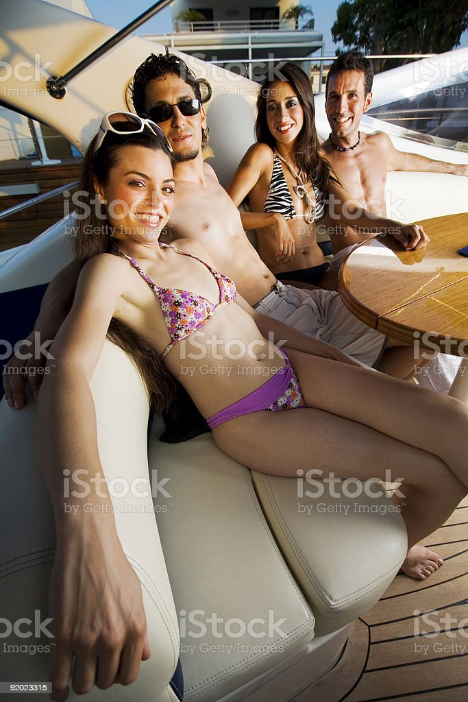 Yachting friends royalty-free stock photo