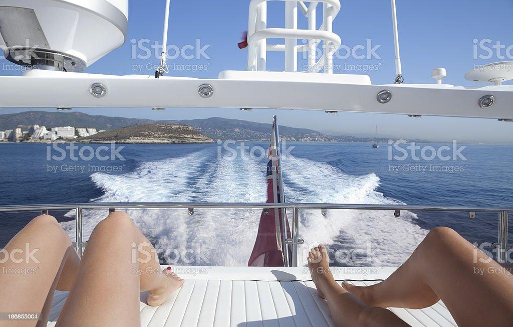 yachting on the island Majorca royalty-free stock photo