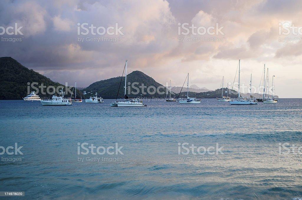 yachting paradise royalty-free stock photo