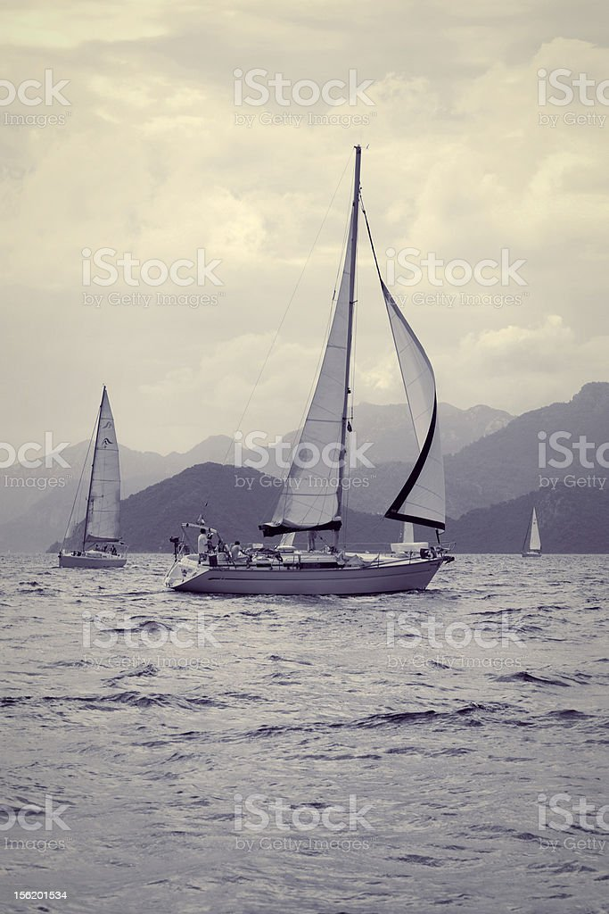 Yachting royalty-free stock photo
