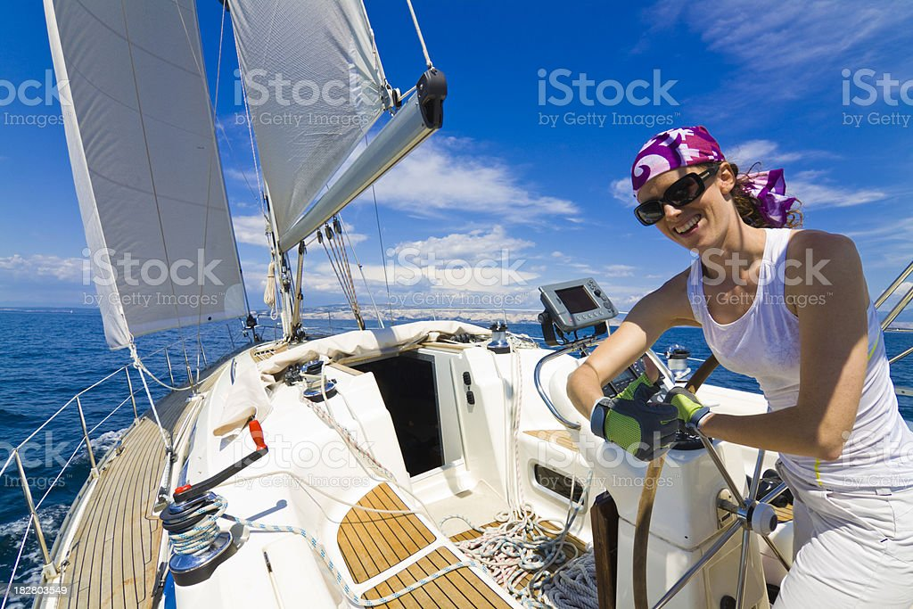 yachting royalty-free stock photo