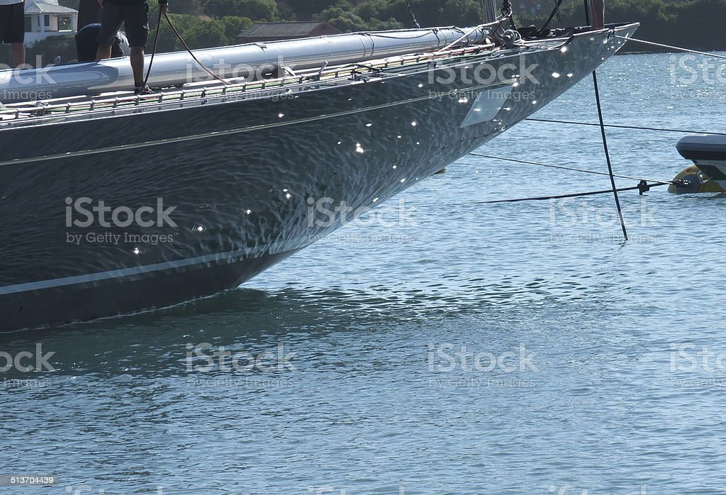 Yachting Reflections stock photo