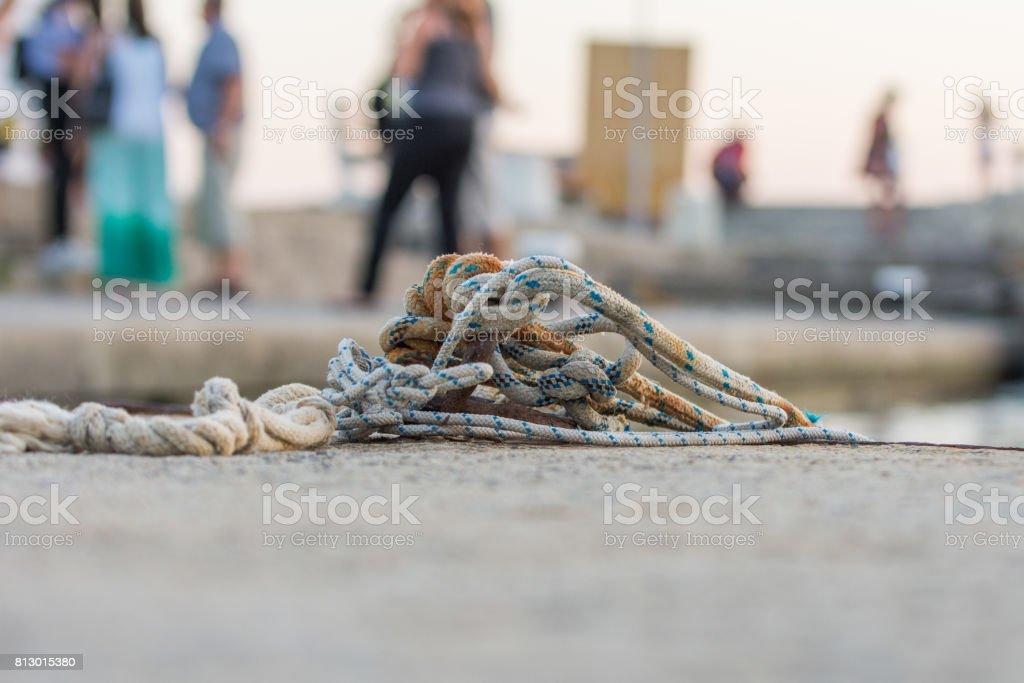 Yachting ropes stock photo