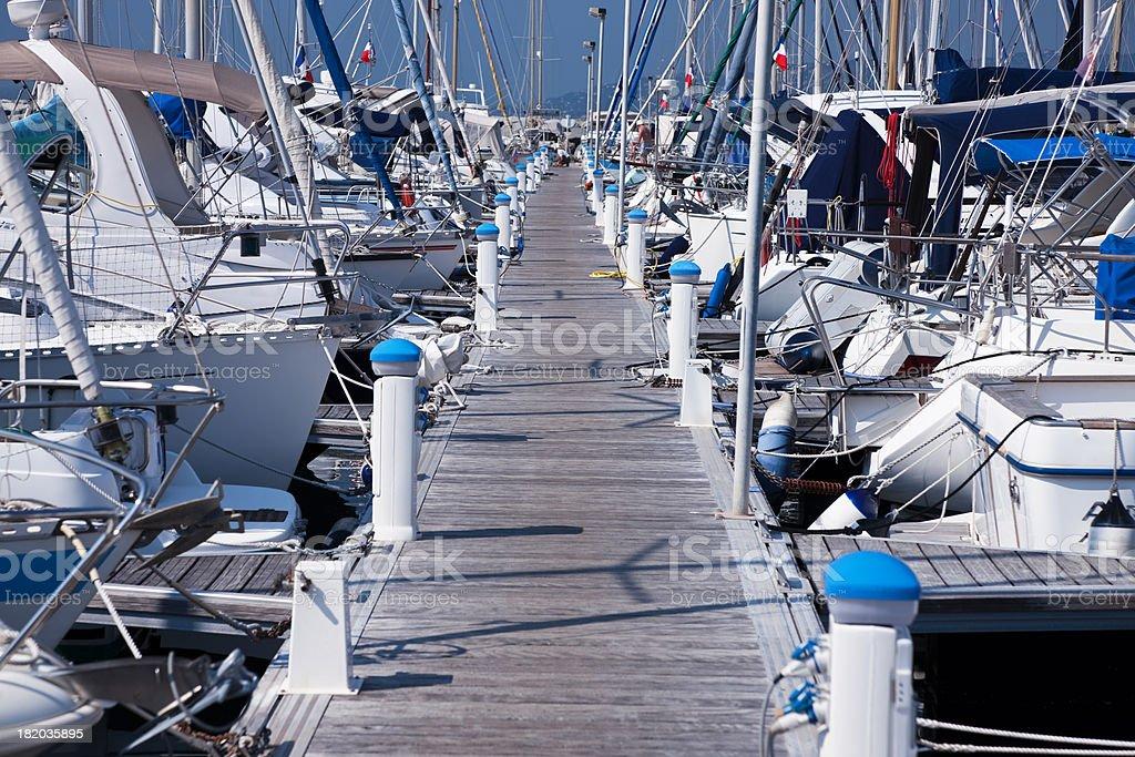 Yachts and Boats at Harbor royalty-free stock photo