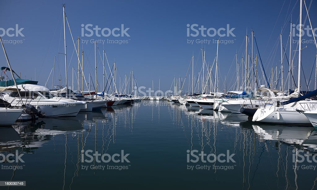 Yachts and Boats at Harbor royalty-free stock photo