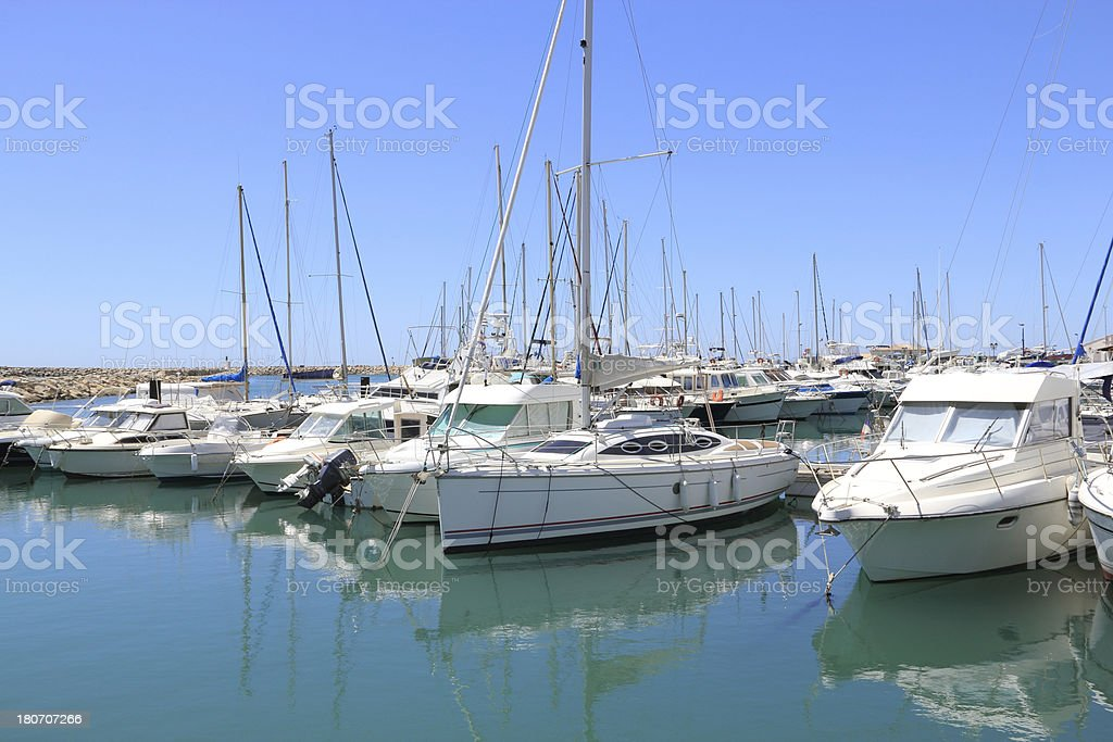 Yachts and boats royalty-free stock photo