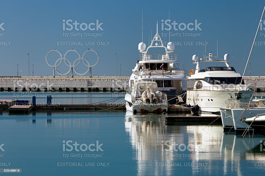 Yachts And Boats. Sochi. Russia stock photo