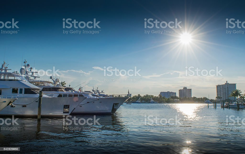 Yachts and Marina in Fort Lauderdale, Florida stock photo