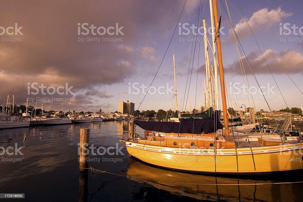 Yachts at Dock stock photo