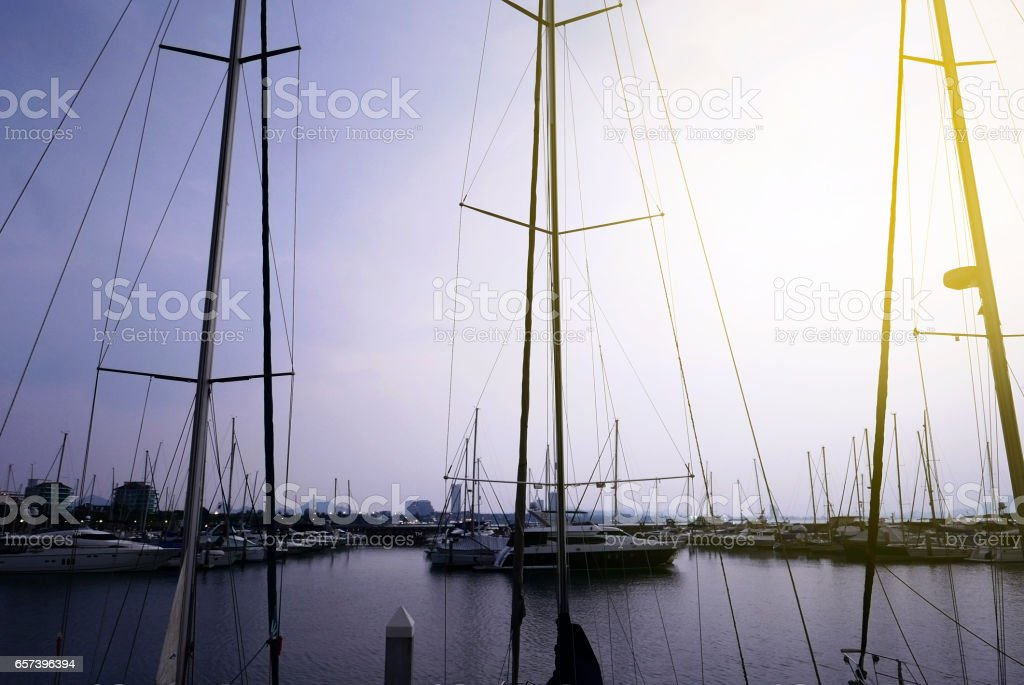 Yachts at the Port. stock photo