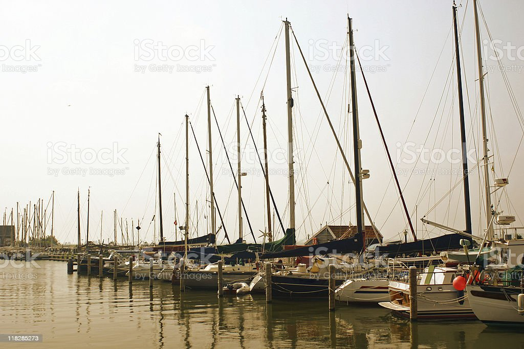 yachts at the seaside royalty-free stock photo