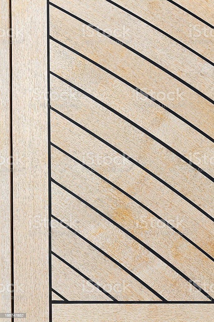Yacht's deck  - Teak royalty-free stock photo