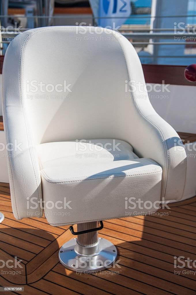 Yacht's detail stock photo