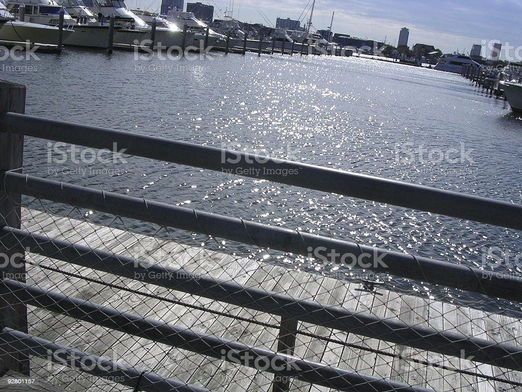 Yachts Docked royalty-free stock photo