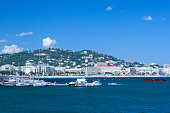 Yachts in Cannes Port Pierre Canto