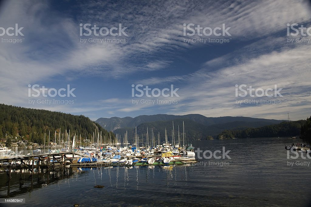 Yachts in Deep Cove, Vancouver Canada royalty-free stock photo