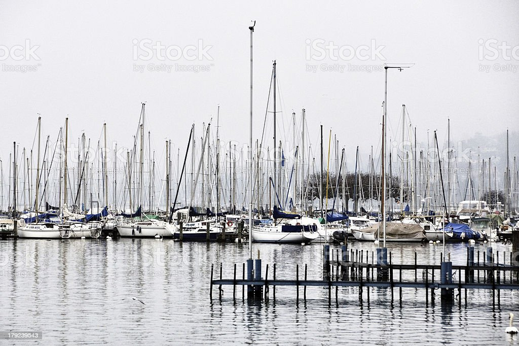 Yachts in Geneva stock photo