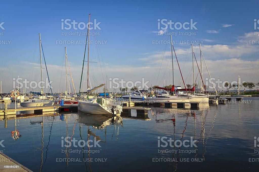 Yachts in Gizycko marina, Poland royalty-free stock photo