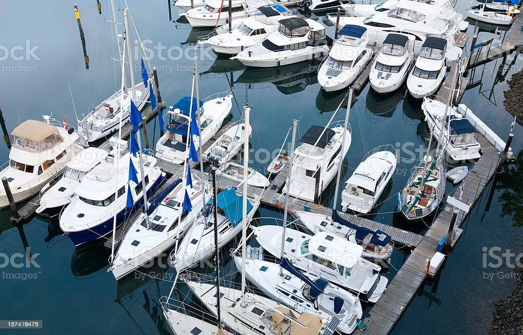 Yachts in Harbor royalty-free stock photo
