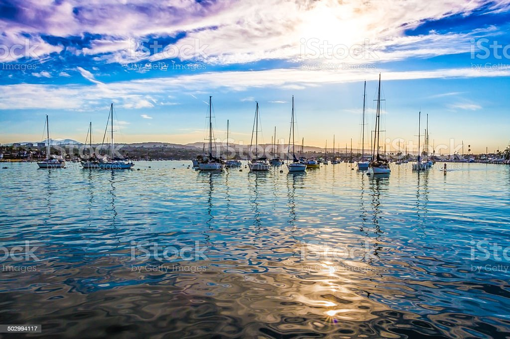 Yachts in Harbor stock photo