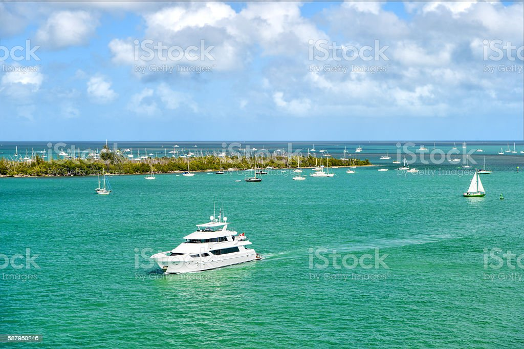 Yachts in Key West stock photo