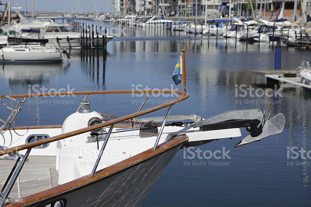 yachts in Malmo stock photo
