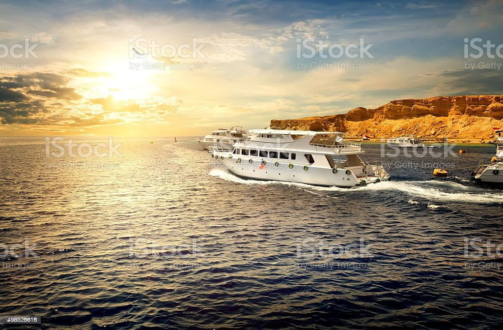 Yachts in Red sea stock photo