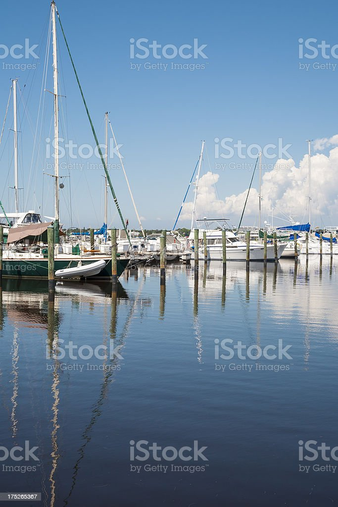 Yachts in the Harbor royalty-free stock photo