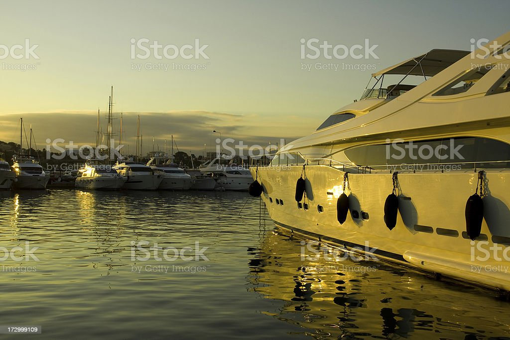 Yachts in the Marina royalty-free stock photo