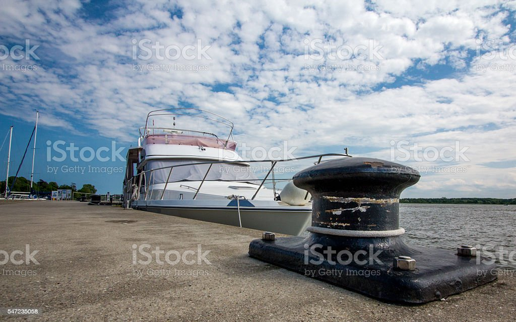 yachts in the port stock photo