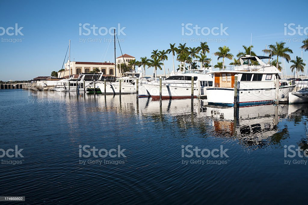 Yachts in the Tropics royalty-free stock photo