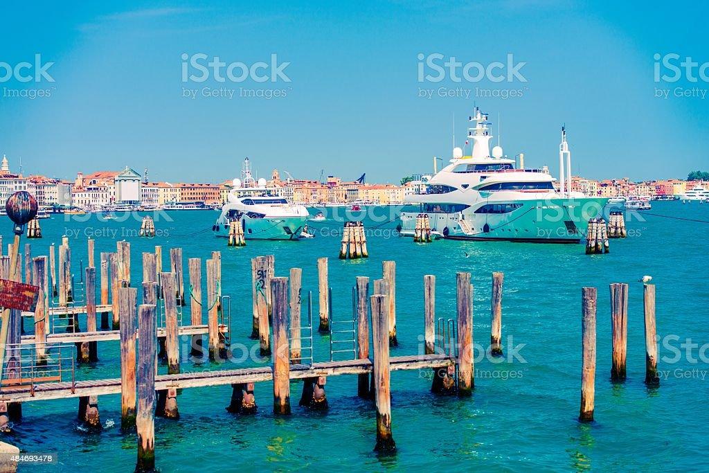 Yachts in Venice, Italy stock photo