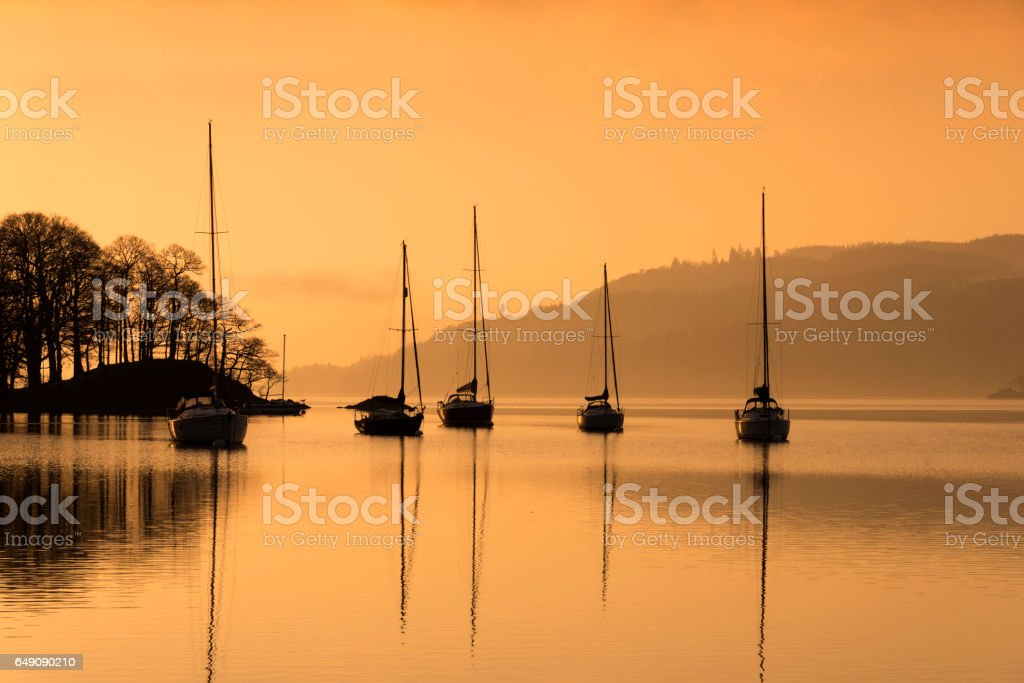 Yachts Moored stock photo