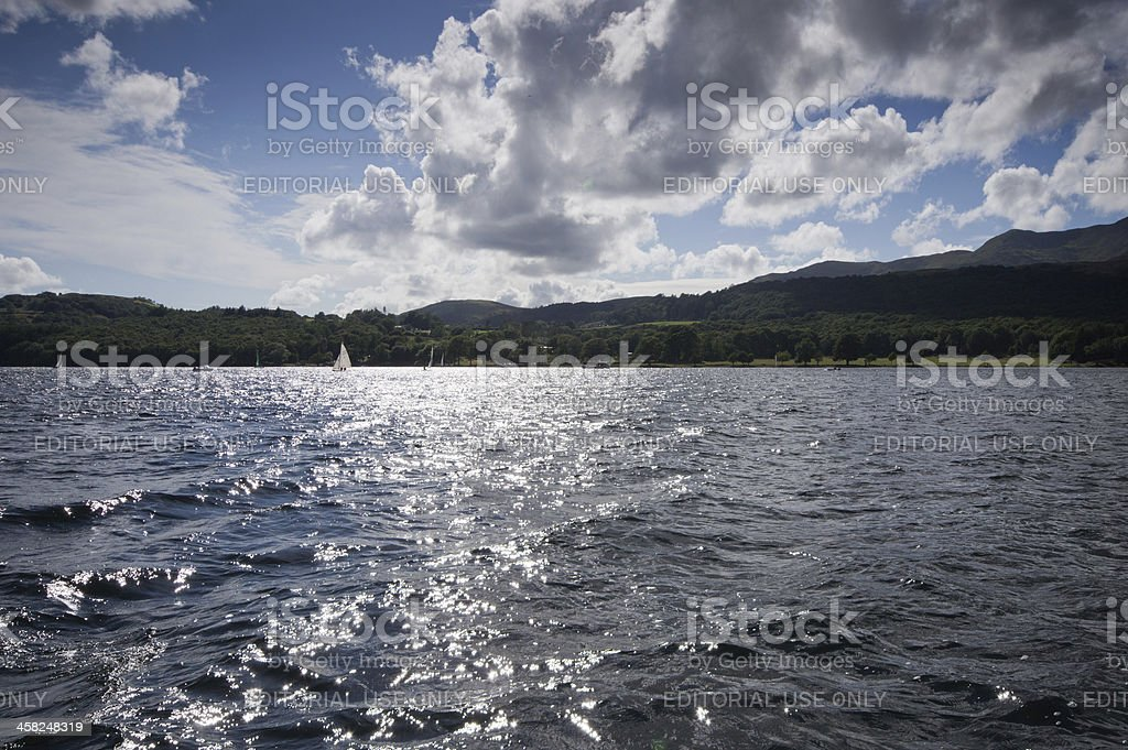 Yachts on Coniston Water royalty-free stock photo